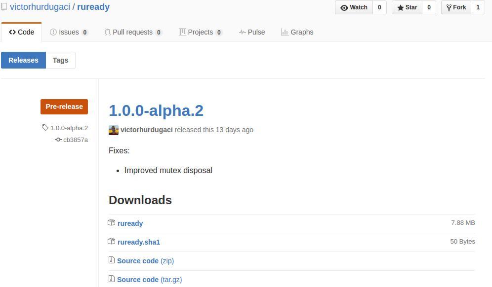 Github example release